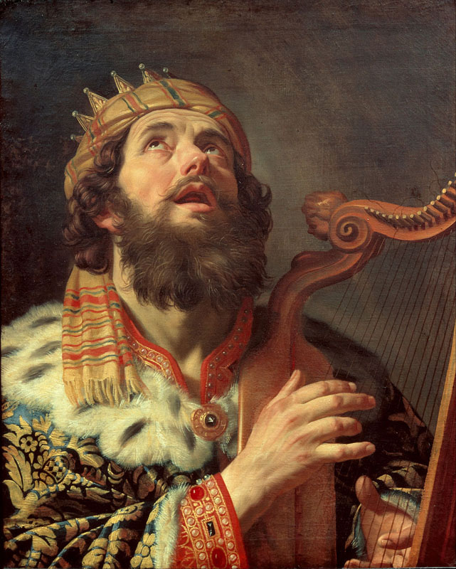 Gerrit van Honthorst,  David Playing the Harp, 1622,  Utrecht, Centraal Museum