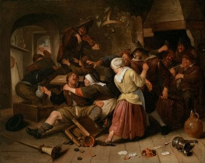 Jan Steen, Gamblers Quarreling, Detroit Institute of Arts