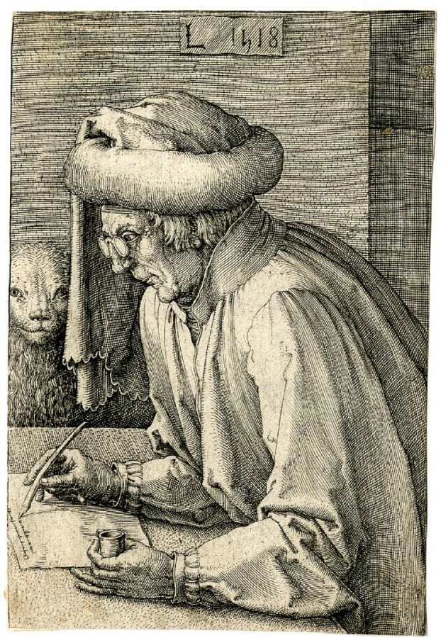Lucas van Leyden, Saint Mark Writing His Gospel, 1518, London, British Museum