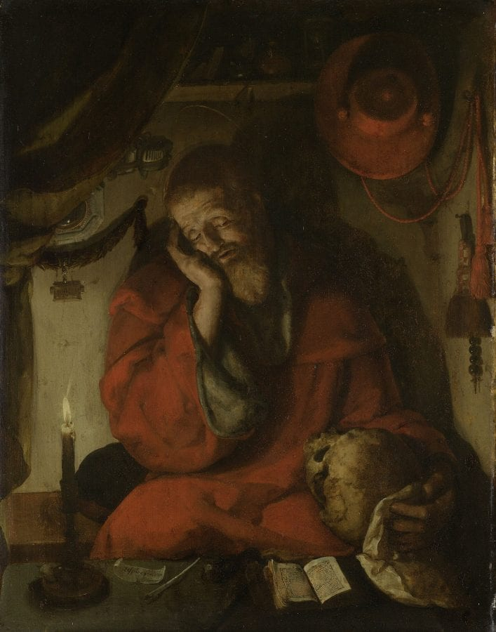 Aertgen van Leyden,  Saint Jerome in His Study by Candlelight, ca. 1520, Amsterdam, Rijksmuseum