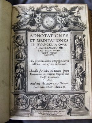 Jan Wierix, Antoon Wierix, or Adriaen Collaert, title page of Jerónimo Nadal, S.J.,Adnotationes, The Newberry Library, Chicago