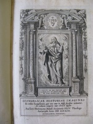 Hieronymus Wierix after Maarten de Vos, title page of Jerónimo Nadal, S.J.,Evangelicae , The Newberry Library, Chicago