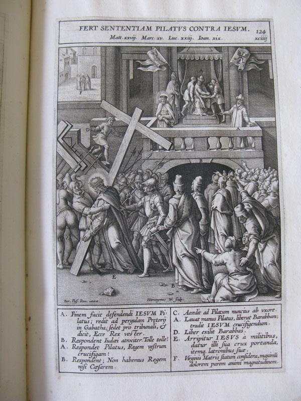 "Hieronymus Wierix after Bernardino Passeri, imago124 (chapter 94), ""Pilate Passes Judgment, The Newberry Library, Chicago"