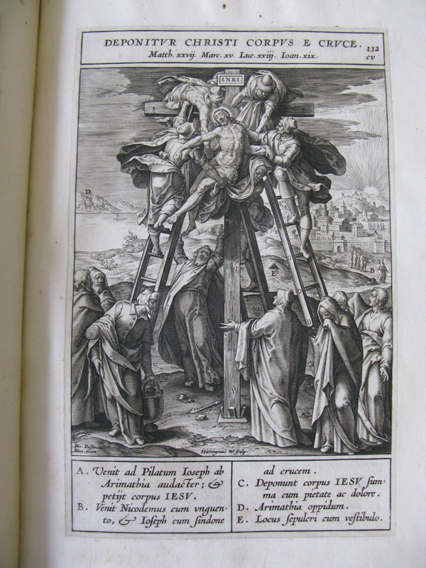 "Hieronymus Wierix after Bernardino Passeri, imago132 (chapter 105), ""Deposition,""Adnot, The Newberry Library, Chicago"