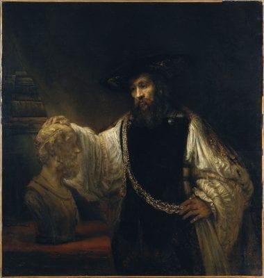 Rembrandt van Rijn (1606–1669), Aristotle with a Bust of Homer, 1653, New York, Metropolitan Museum of Art