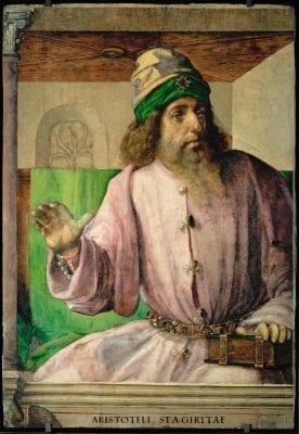 Joos van Wassenhove (active 1460–1480), Aristotle, ca. 1476, Paris, Musée du Louvre