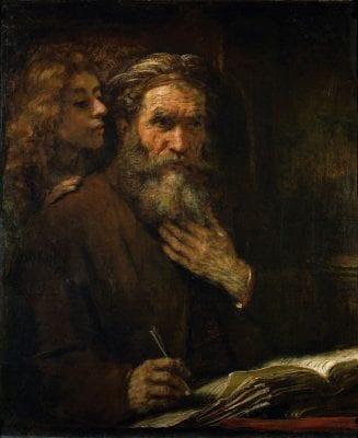 Rembrandt van Rijn (1606–1669), Saint Matthew and the Angel, 1661, Paris, Musée du Louvre
