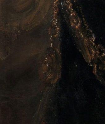 Rembrandt van Rijn (1606–1669), Detail of fig. 1,Aristotle with a Bust of Homer, 1653, New York, Metropolitan Museum of Art