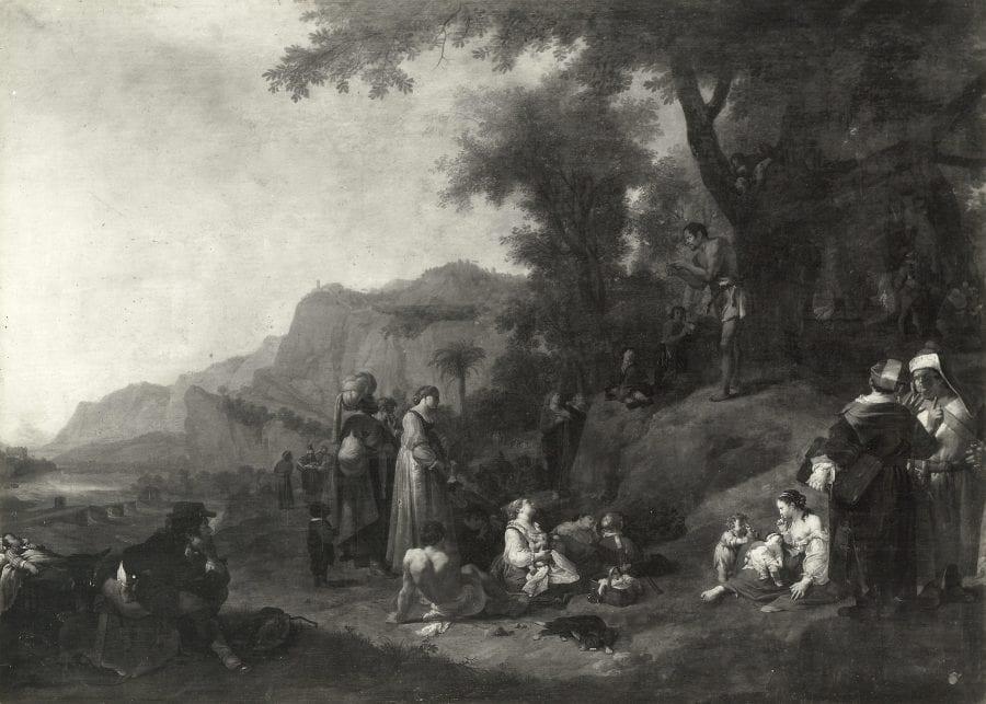 Bartholomeus Breenbergh, The Preaching of John the Baptist, 1643, New York, Collection of Richard Feigen