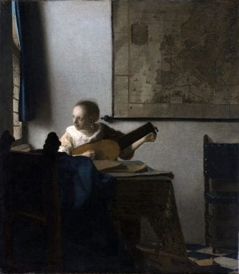 Johannes Vermeer,  Woman with a Lute, ca. 1662–64, New York, The Metropolitan Museum of Art