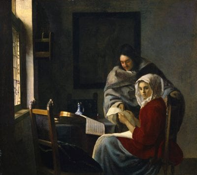 Johannes Vermeer,  Young Woman Interrupted at Her Music, 1660–62, New York, The Frick Collection