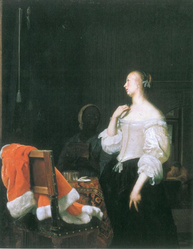 Frans van Mieris, Woman before a Mirror,  ca. 1662,  Berlin, Staatliche Museen, Gemäldegalerie