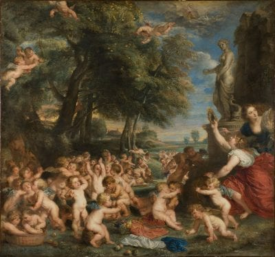 Peter Paul Rubens, after Titian,  The Worship of Venus, Stockholm, Nationalmuseum