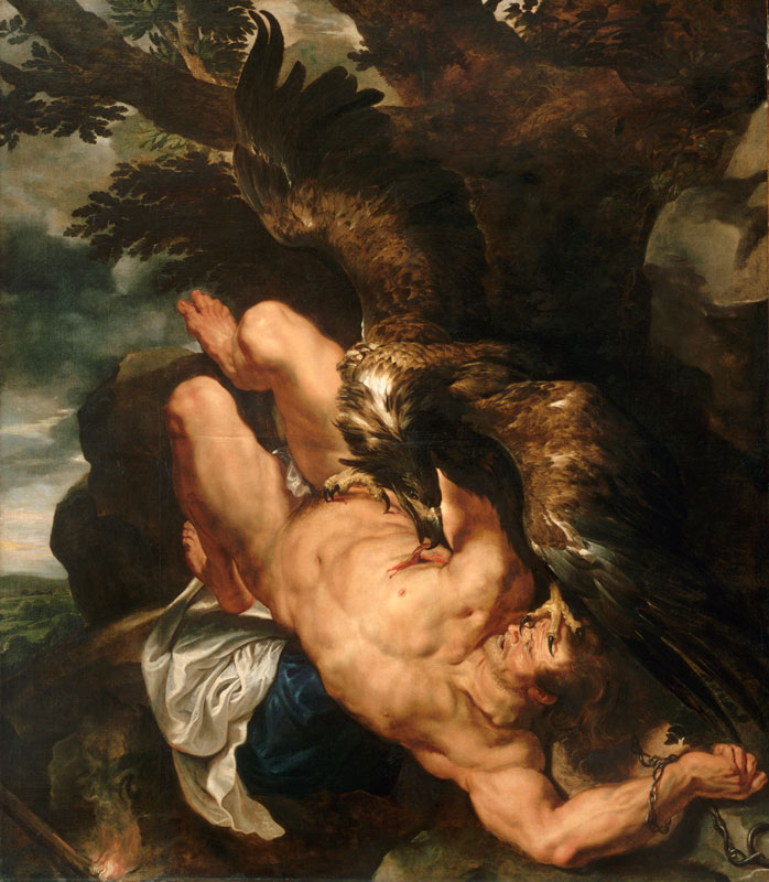 Peter Paul Rubens, with Frans Snyders,  Prometheus Bound,  begun ca. 1611–12. completed by 1618,  Philadelphia Museum of Art