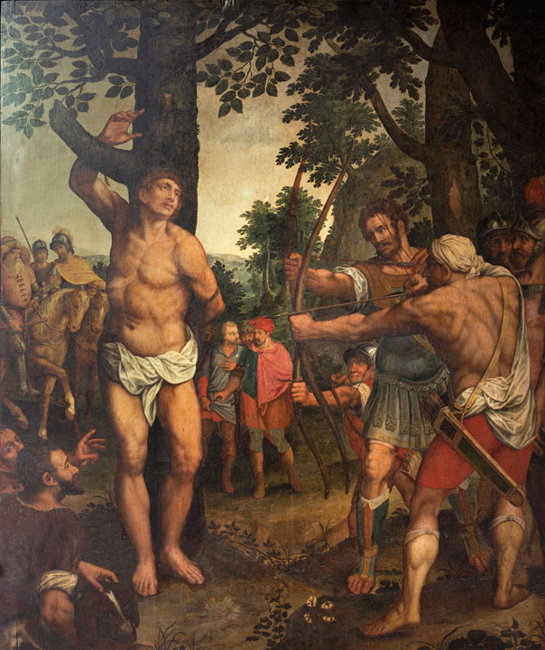 Michiel Coxcie,  The Martyrdom of Saint Sebastian, central panel, Antwerp, Royal Museum of Fine Arts