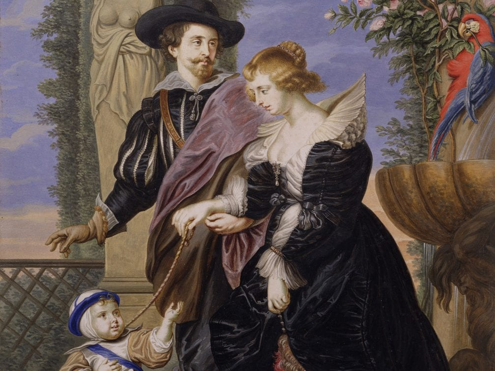 Bernard Lens III,  Rubens, His Wife Helena Fourment, and Their Son , 1721,  New York, The Metropolitan Museum of Art