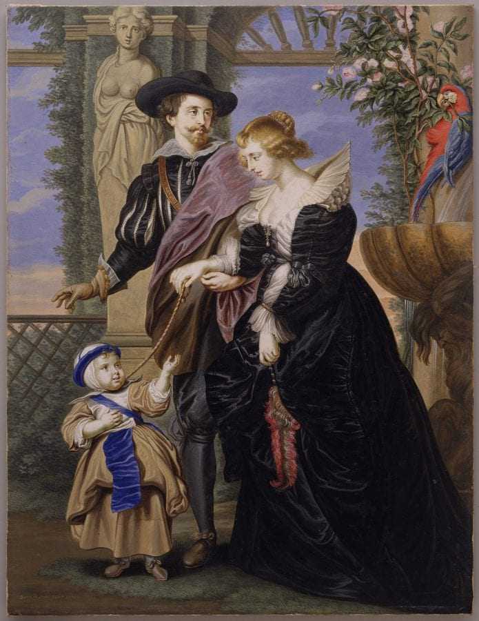 Bernard Lens III, Rubens, His Wife Helena Fourment, and Their Son , 1721,  New York, The Metropolitan Museum of Art