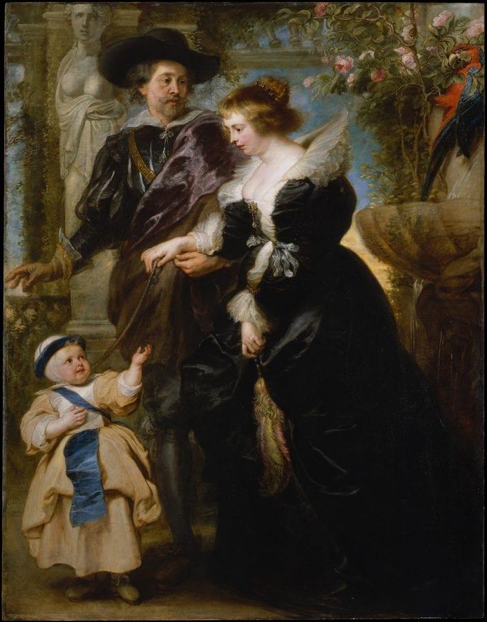 Peter Paul Rubens, Rubens, His Wife Helena Fourment, and Their Son ,  ca. 1635,  New York, The Metropolitan Museum of Art