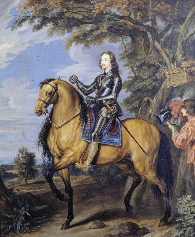 Bernard Lens III,  King Charles I on Horseback, 1721,  Croft Castle, Herefordshire, Midlands (National Trust)