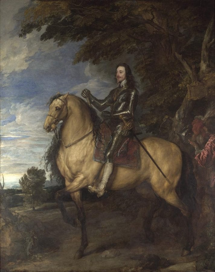 Anthony van Dyck,  King Charles I on Horseback,  ca. 1638,  London, The National Gallery