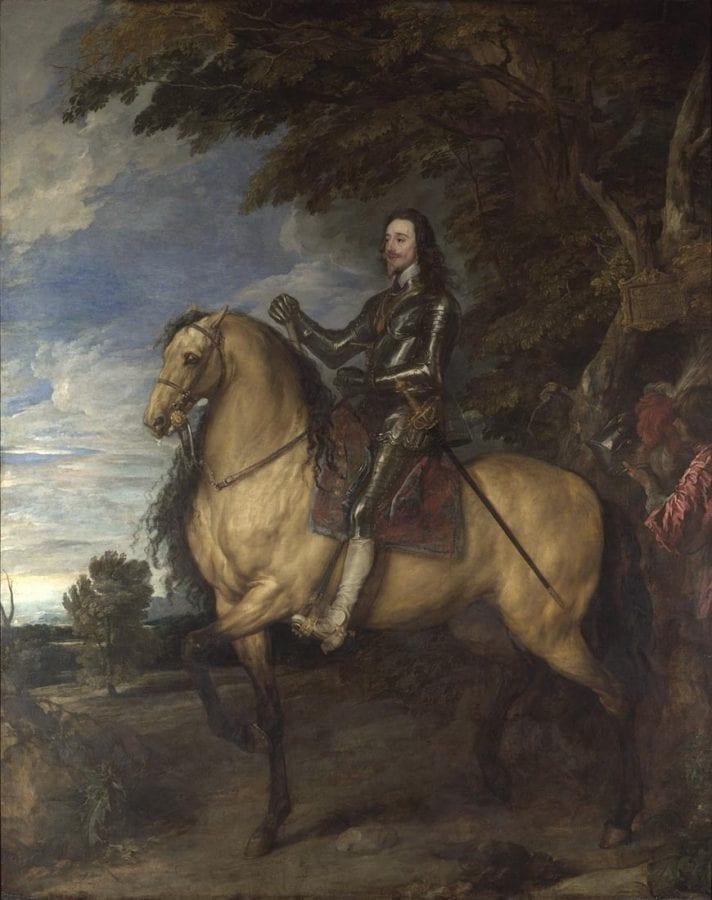 Anthony van Dyck, King Charles I on Horseback,  ca. 1638,  London, The National Gallery