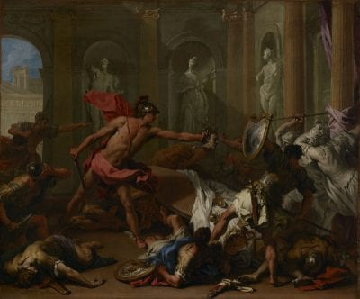 Sebastiano Ricci (1659–1734),  Perseus Confronting Phineus with the Head of Med, ca. 1705–10, Los Angeles, J. Paul Getty Museum