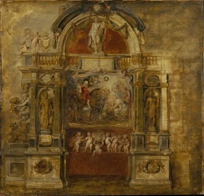 Peter Paul Rubens (1577–1640),  Temple of Janus (sketch for the Joyous Entry of, 1634,  St. Petersburg, State Museum of the Hermitage
