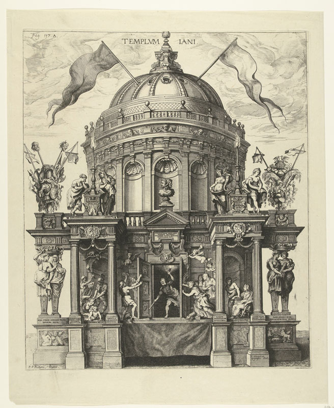 Theodoor van Thulden (1606–1669), after Peter Paul Rubens,  The Temple of Janus, (from Johannes Casper Geva,  Amsterdam, Rijksmuseum