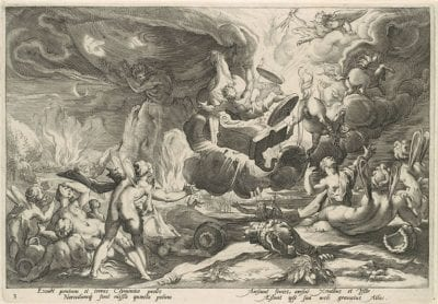 Unknown engraver, after Hendrik Goltzius,  The Fall of Phaeton, from the series Ovid's M, ca. 1588, New York, Metropolitan Museum of Art