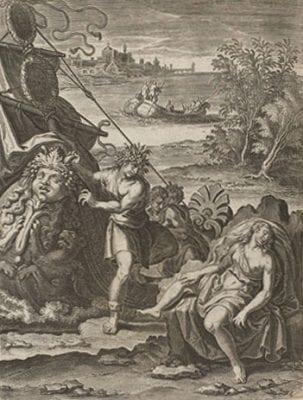 """""""Les Isles"""" (p. 422), from Philostratus,Les, Amsterdam, Rijksmuseum"""