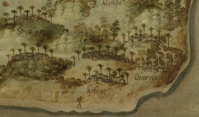 Anonymous (attributed to David de Meyne), View of Ambon (Gezicht op Ambon), detail of fig. , ca. 1617, Amsterdam, Rijksmuseum