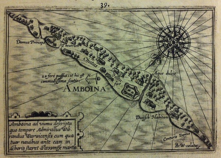 View of Ambon, From Jacob van Neck, Het tweede bo, University of Amsterdam Library