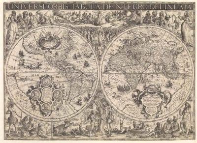 David de Meyne, after Nicolaas van Geelkerken,  Universi Orbis Tabula De-Integro Delineata, 1610,  Rotterdam, Maritiem Museum