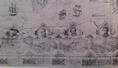 Jodocus Hondius the Elder,  detail of Nova et exacta totius orbis terrarum de, 1608, London: Royal Geographical Society