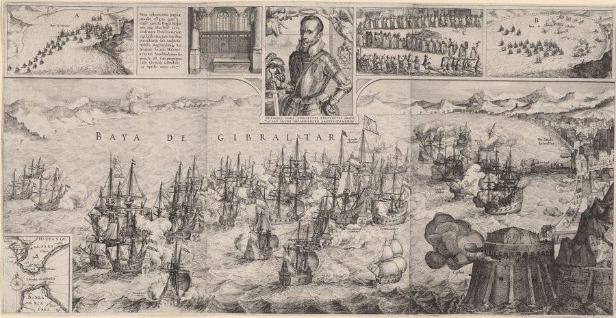 Claes Jansz. Visscher (II), after David Vinckboons, The Battle of Gibraltar, 1607, Amsterdam, Rijksmuseum