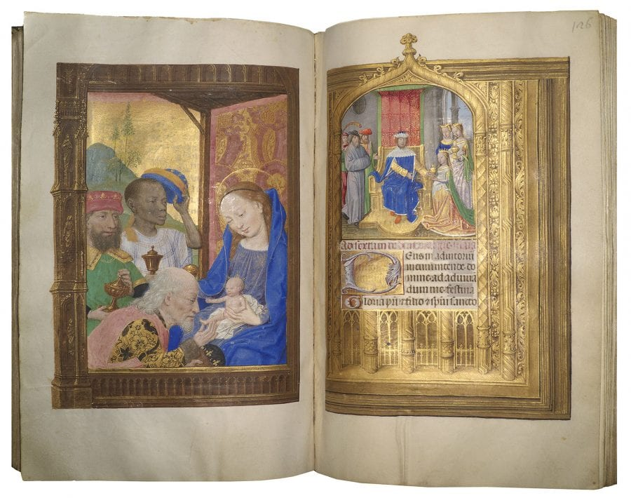 Simon Marmion, The Adoration of the Magi, before 1498 and Maximi, before 1498, Naples, Biblioteca Nazionale di Napoli