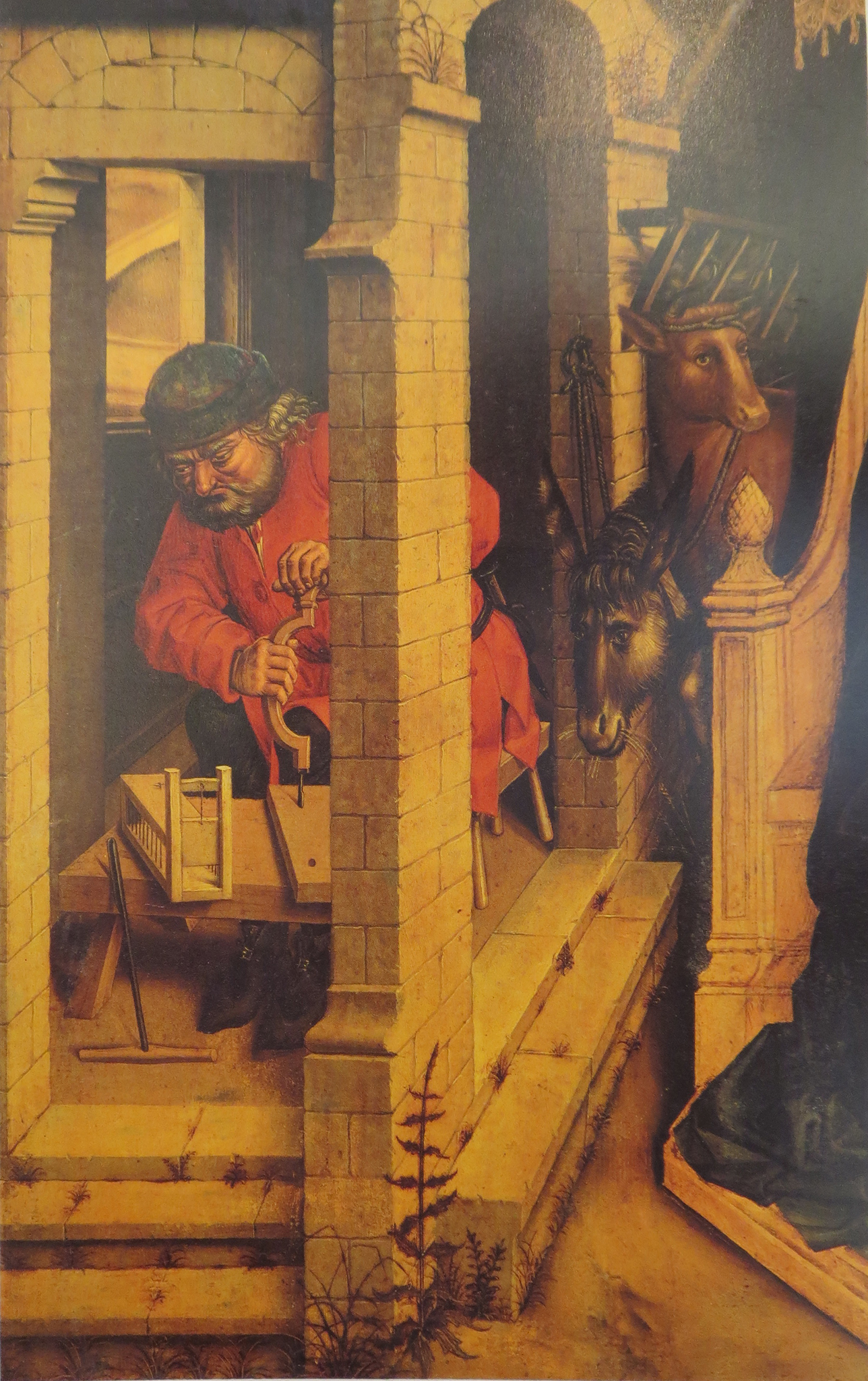Adoration of the Magi: detail of central panel of a triptych