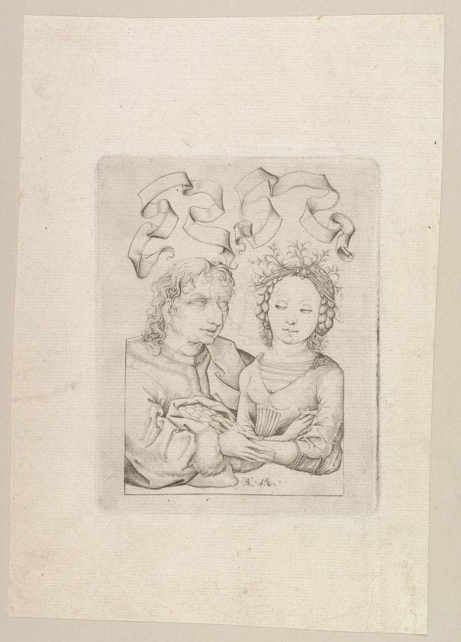Israhel van Meckenem; The Ill-Matched Couple (after the Housebook Master); ca. 1480–90; engraving; 15.5 x 17.4 cm.; New York, Metropolitan Museum of Art; Gift of M. Feltenstein, 2015, inv. 2015.703