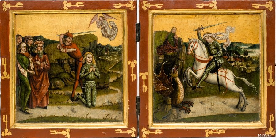 Unknown, Saint George Diptych, ca. 1470, Bayerisches Nationalmuseum