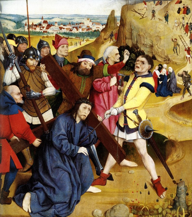 Master of the Wiener Schottenaltar,  Christ Carrying the Cross,  ca. 1469,  Museum im Schottenstift