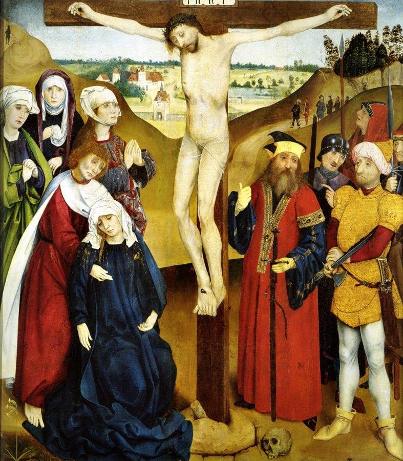 Master of the Wiener Schottenaltar,  Crucifixion,  ca. 1469,  Museum im Schottenstift