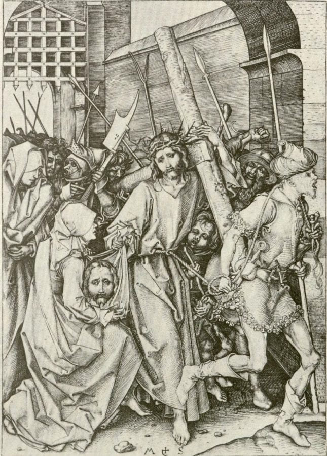 Martin Schongauer, Christ Carrying the Cross, 1475–80, Rijksprentenkabinet