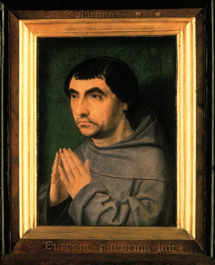 Jan Provoost,  Portrait of a Fifty-Four-Year-Old Franciscan, 1522,  Bruges, Hospitaalmuseum Sint-Janshospitaal