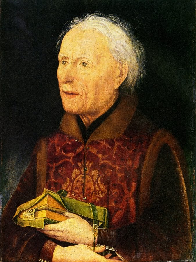 Hans Pleydenwurff,  Portrait of the Bamberg Canon and Subdeacon Georg,  ca. 1456,  Germanisches Nationalmuseum