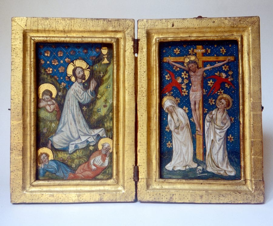 Unknown, Agony in the Garden; and Crucifixion, ca. 1410, Bayerisches Nationalmuseum, Munich