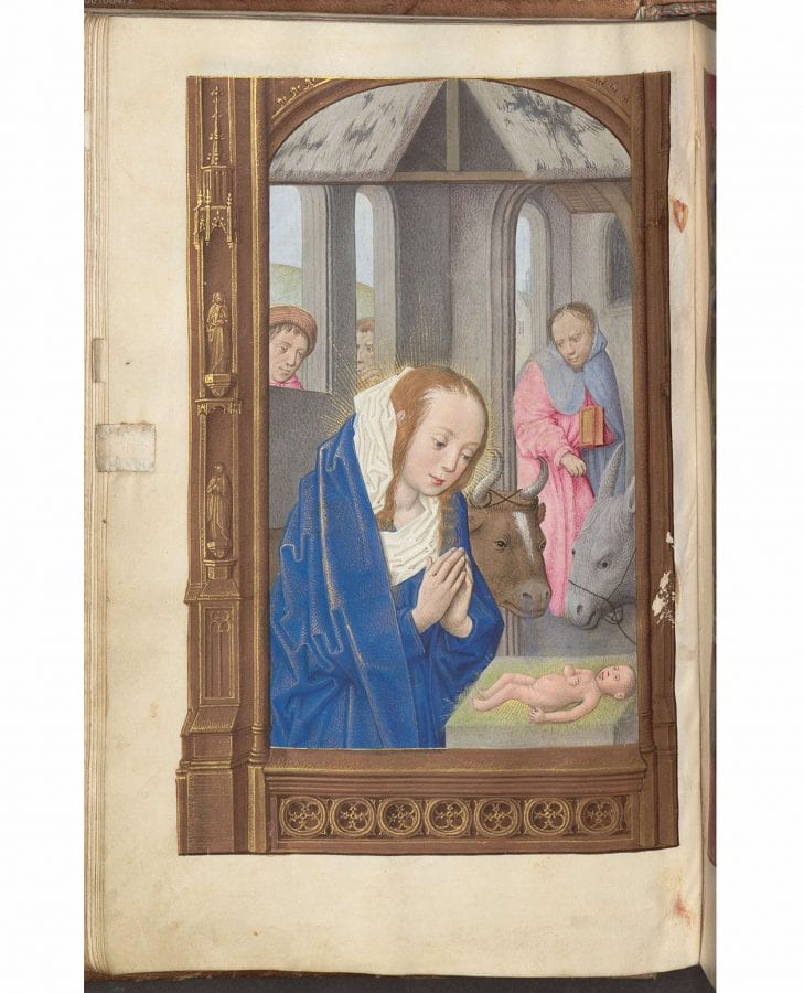 Maximilian Master,  The Nativity, Book of Hours,  ca. 1495–1500,  Munich, Bayerische Staatsbibliothek