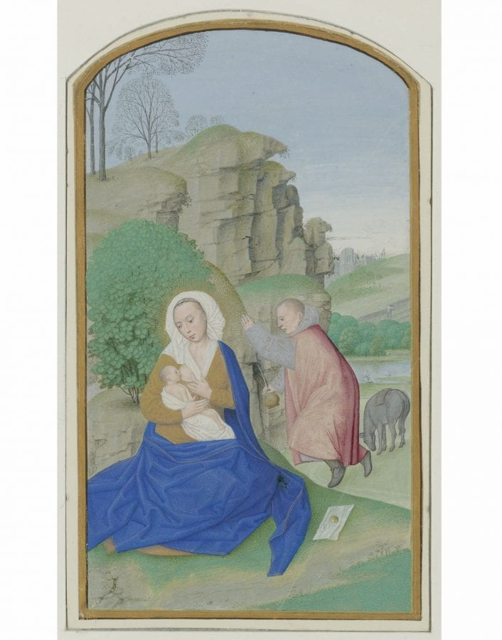 Maximilian Master, The Rest on the Flight into Egypt, tempera on par, ca. 1490–95., Paris, Fondation Custodia (Frits Lugt Collection)