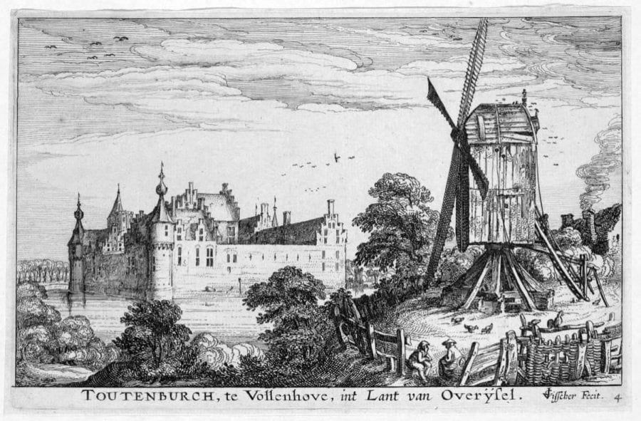 Claes Jansz Visscher (Amsterdam 1587–1652 Amsterdam), Castle Toutenburg at Vollenhove, 1617,