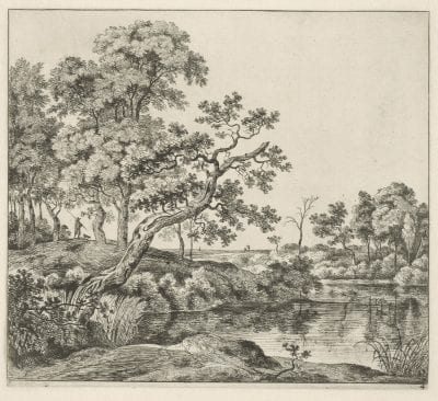 Jan Hackaert (Amsterdam 1629–after 1685 Amsterdam?),  Forest Landscape with Travelers,  ca. 1650–60,