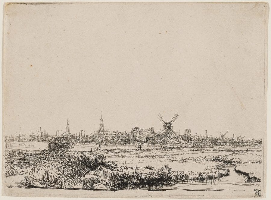 Rembrandt (Leiden 1606–1669 Amsterdam), View of Amsterdam from the East (mirror image), 1640–42,
